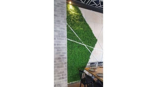 קיר ירוק מלאכותי מעוצב